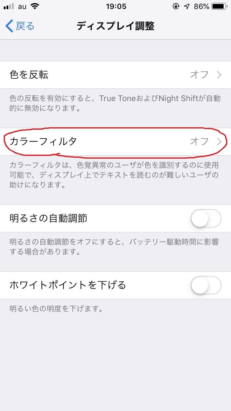 iphone画面の白黒モノクログレースケール化4